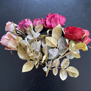 Lot of 7 silk rose floral stems from Michaels